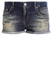 Ltb Judie Denim Shorts Pluie Wash Dark Blue Denim
