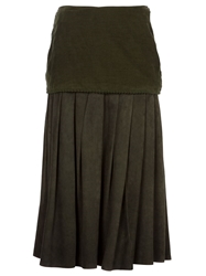 Gianni Versace Vintage Maxi Skirt Green