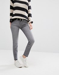Lee Scarlett Cropped Skinny Jeans With Released Hem Authentic Grey