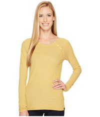 The North Face Long Sleeve Campground Knit Top Arrowwood Yellow Women's Long Sleeve Pullover