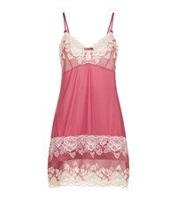 Fantasie Lace Trim Chemise Female Pink