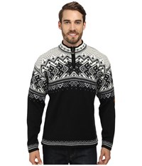 Dale Of Norway Vail F Black Light Charcoal Smoke Off White Men's Sweater
