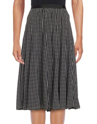 Karl Lagerfeld Dotted A Line Skirt Black Multicolor