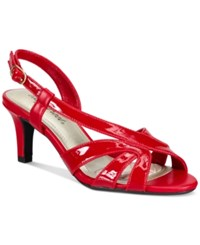Easy Street Shoes Desi Dress Sandals Women's Red Patent