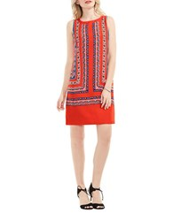 Vince Camuto Petite Havana Geo Shift Dress Red Hot