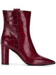 The Seller Pointed Croc Effect Boots 60