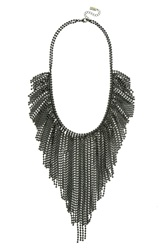 Baublebar 'Acid Fringe' Bib Necklace Black