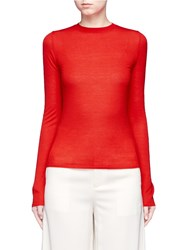 Ms Min Fine Wool Knit Sweater Red