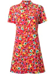 Sonia Rykiel By Flower Print Shirt Dress Red