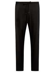 Derek Rose Basel Jersey Trousers Black
