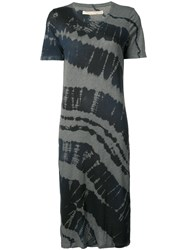 Raquel Allegra Tie Dye T Shirt Dress Women Cotton Polyester 3 Black