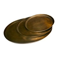 Pols Potten Antique Brass Oval Platters Set Of 3