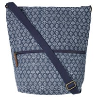 Fat Face Stitched Star Canvas Across Body Bag Navy