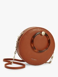 Ted Baker Acantha Leather Circle Cross Body Bag Brown