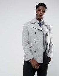 Selected Homme Wool Mix Peacoat Light Grey Melange