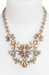 Women's Marchesa Jeweled Cluster Statement Necklace