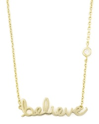Shy By Sydney Evan Believe Pendant Bezel Diamond Necklace Gold