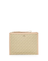 Cole Haan Signature Weave Medium Clutch Bag Sandstone