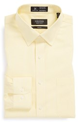 Men's Big And Tall Nordstrom Smartcare Trim Fit Pinpoint Stripe Dress Shirt Yellow Primrose
