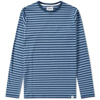 Norse Projects Long Sleeve Svali Stripe Tee Blue