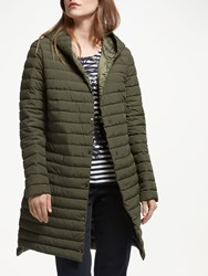 Gerry Weber Hooded Quilted Coat Khaki