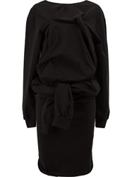 Aganovich Knotted Waist Dress Black