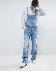 Pepe Jeans Dougie Overalls Patches And Rip And Repair Blue