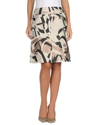 Piazza Sempione Knee Length Skirts Beige