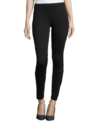 Romeo And Juliet Couture Ribbed Knee Ponte Leggings Black