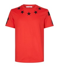 Givenchy Cuban Fit Star 74 T Shirt Male Red