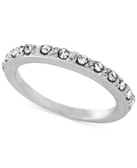 Bcbgeneration Silver Tone Crystal Pave Ring