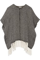 Apiece Apart Fringed Cotton Cape Black