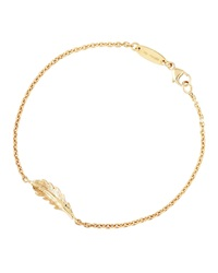 Mimi So 18K Yellow Gold Phoenix Feather Bracelet Red