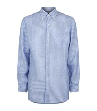 Polo Ralph Lauren Linen Stripe Shirt Male Blue