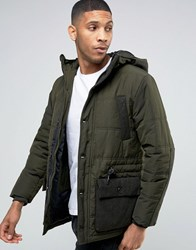 Esprit Padded Jacket With Military Pocket Detail Khaki 350 Green