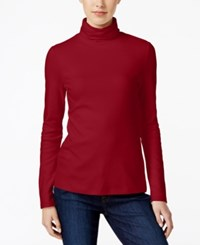 Charter Club Turtleneck Top Only At Macy's New Red Amore