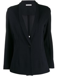 Stefano Mortari Single Breasted Loose Blazer Blue