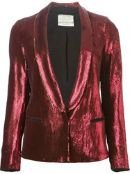 Forte Forte Sequined Blazer Red