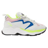 Msgm Scarpa Donna Running Sneakers Pink White Turquoise