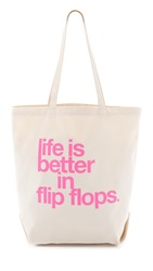 Dogeared Life Is Better In Flip Flops Tote