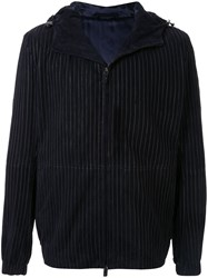 Giorgio Armani Striped Zip Up Hooded Jacket 60