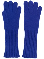 Cruciani Knitted Gloves Blue