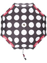 Moschino Polka Dot Print Umbrella Black