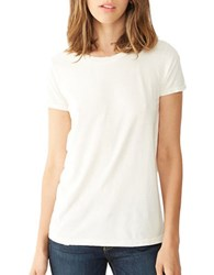 Alternative Apparel Distressed Cotton Tee White