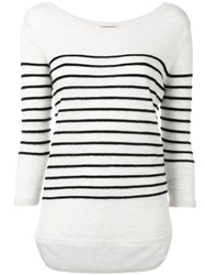 N.Peal Textured Stripe Jumper Black