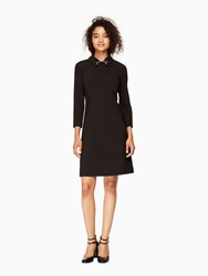 Kate Spade Embellished A Line Dress Black