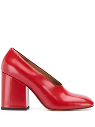 Marni High Wedge Pumps Red