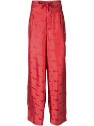La Perla Jacquard Pyjama Trousers Red
