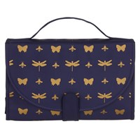 John Lewis Discover Toilettries Roll Up Navy And Gold
