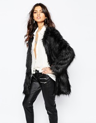 Unreal Fur Wanderlust Coat In Black